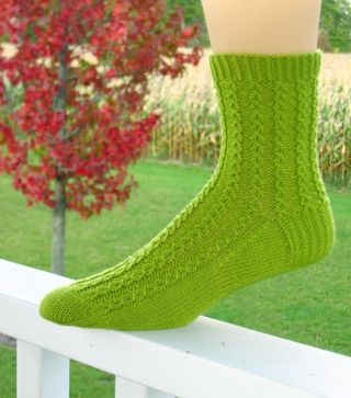 FiestaLime Sock