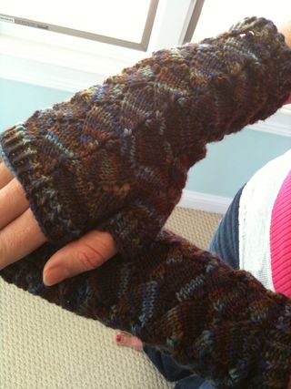 Finished Butterfly Mitts