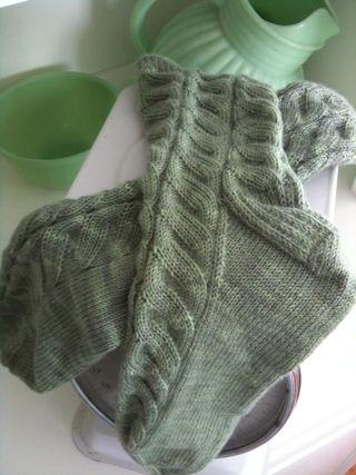 Vintage jade socks