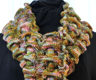 Susan's Scrunchy Scarf neck view close up 1200px