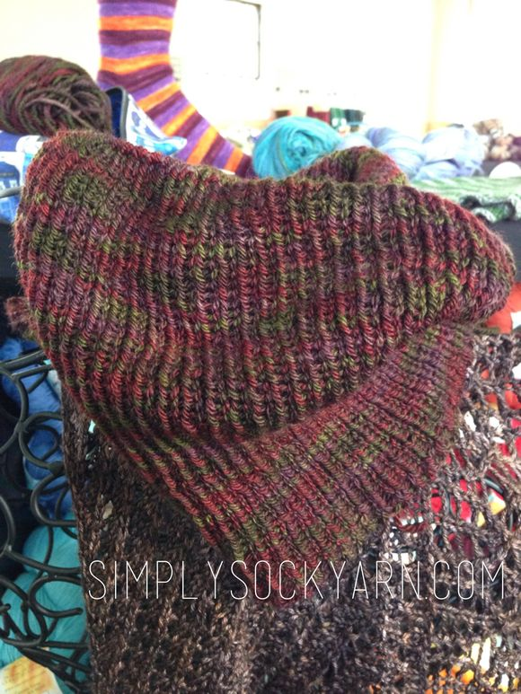 Four cowls and a sock