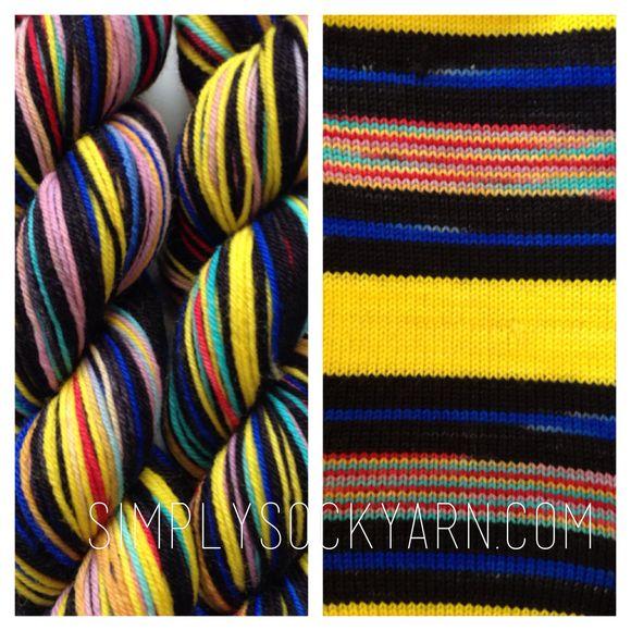 So much striped sock yarn