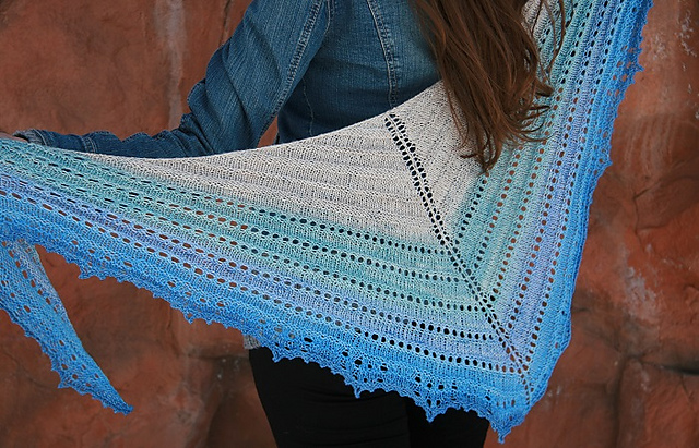 Beach Cove shawl