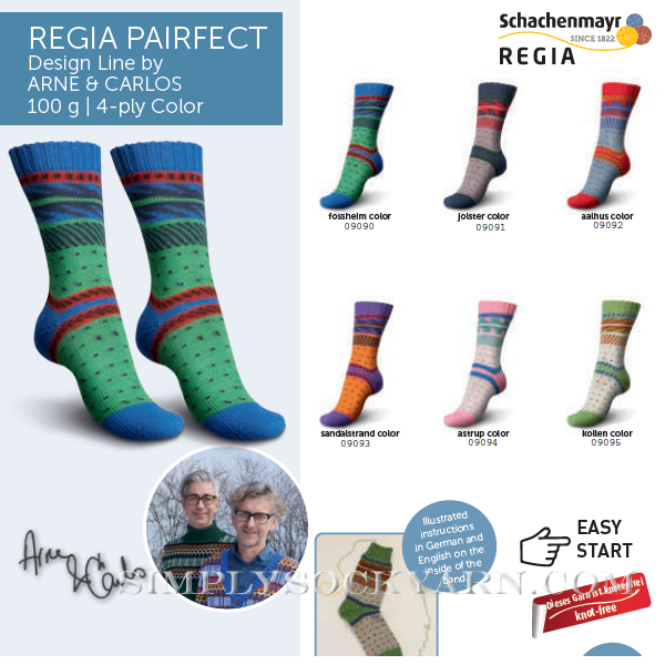 Regia Pairfect Design Line by Arne /& Carlos 4 Ply Sock