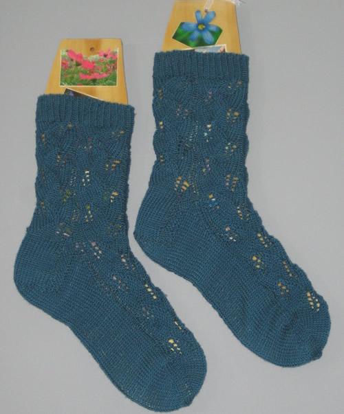 Embossed Leaves Socks II