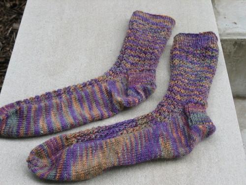 Yarn Over Cable Socks